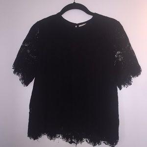 Women's black lace blouse
